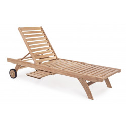 LETTINO MARYLAND IN TEAK CON RUOTE BY BIZZOTTO