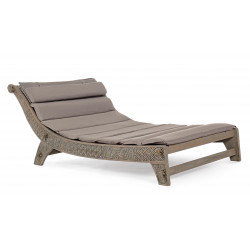 DAYBED CON CUSCINI SANUR IN LEGNO TEAK FSC. BY BIZZOTTO