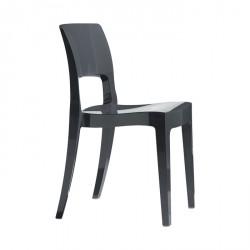 Sedia Isy tecnopolimero lucido interno esterno impilabile - Scab Design