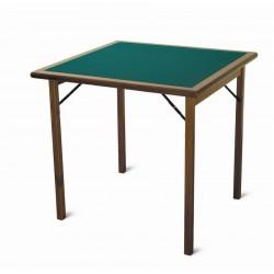 Tavolo da gioco in legno pieghevole. Mod. Torneo