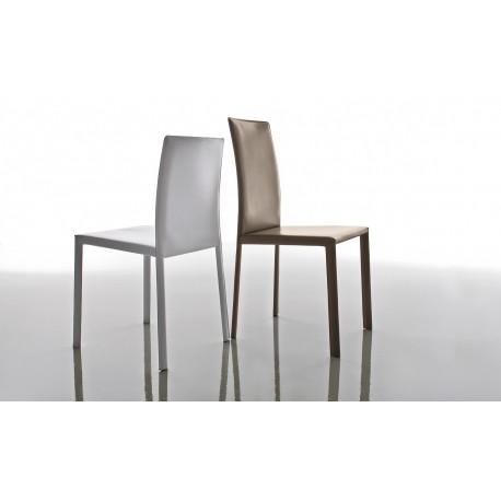 Sedie Metallo E Cuoio.Sedia Paola Seduta Imbottita E Struttura In Metallo Rivestita In