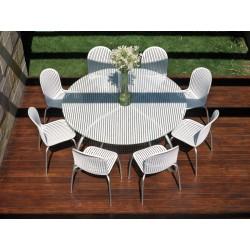 Tavolo alluminio e vetro Loto Dinner by Nardi Garden