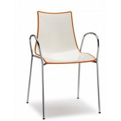 Sedia bicolore con braccioli Zebra. - Scab Design