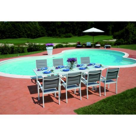 Prezzi Tavoli Da Giardino.Tavolo Allungabile Da Giardino Selinunte Cm 135 270x90 In Alluminio
