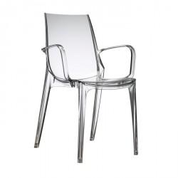 Sedia con bracciolo Scab Vanity. Sedia in policarbonato - Scab Design