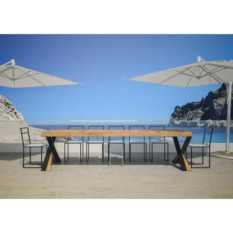 Tavolo da esterno allungabile Lilla. Allungabile sino a cm. 300