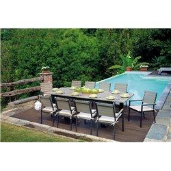 Tavolo da esterno allungabile Monterosso by Greenwood in alluminio. Misura 220/280x100