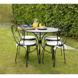 Tavolo da giardino rotondo Boveno di Greenwood. Diametro cm. 90