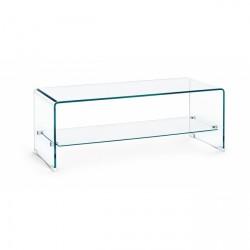 Tavolino in vetro Iride rettangolare con ripiano Vetro spessore mm. 10 By Bizzotto