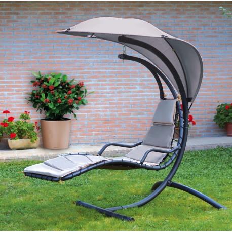 Chaise longue sospesa Foglia di Greenwood. Dondolo in metallo. SV120