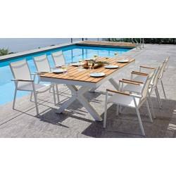 Set tavolo e sedie da giardino Baratti e Populonia di Greenwood.