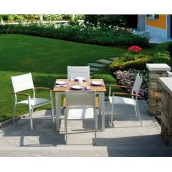 Set tavolo e sedie da giardino Calvi e Bastia di Greenwood.