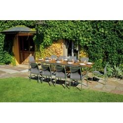 Set tavolo e sedie da giardino Saint Moritz di Greenwood.