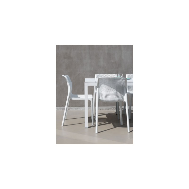 Set da giardino Tavolo Rio 140 e sedie Bit di Nardi. Vari