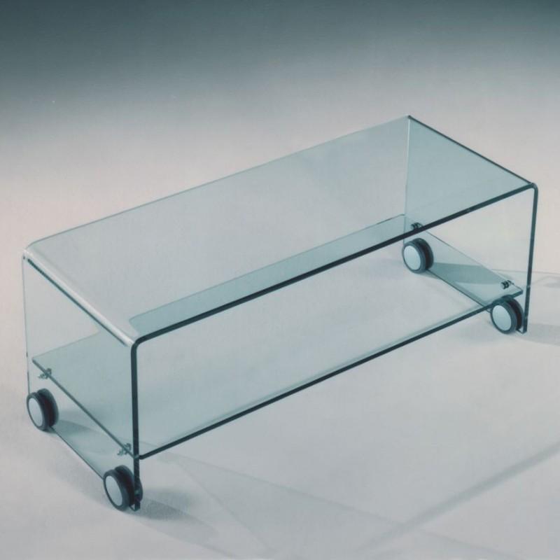Mibile porta tv in vetro curvato con ruote al miglior prezzo for Mobil shop srl
