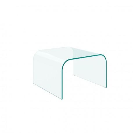 Tavolino in vetro curvato modello Mojito
