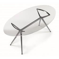 Tavolo Metropolis piano in vetro - Scab Design