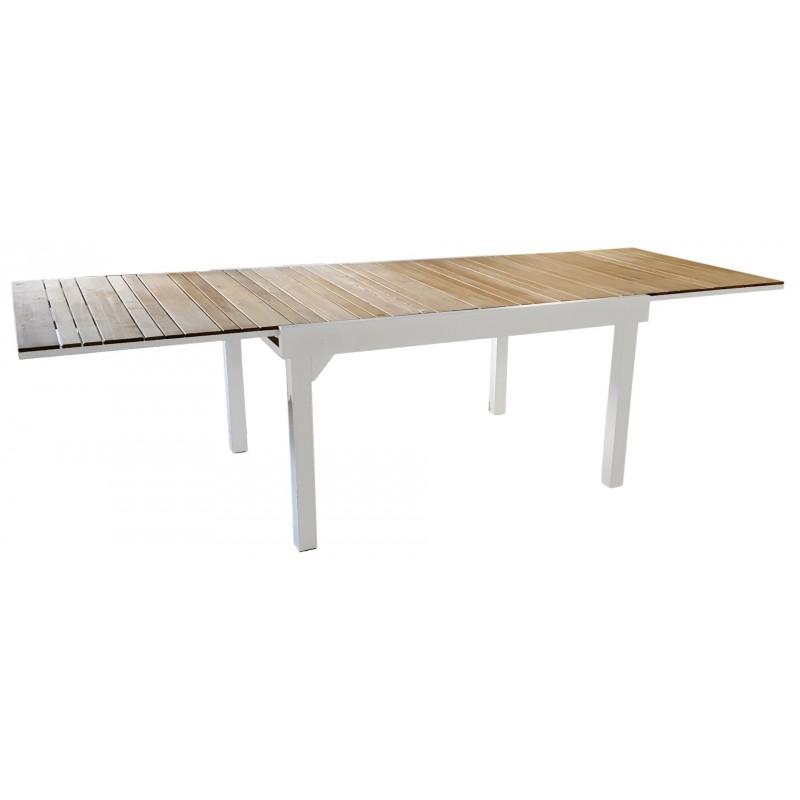 Tavoli Da Giardino Legno E Alluminio.Tavolo Bonifacio Allungabile 135 270x105cm In Teak E Alluminio