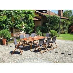Tavolo per esterni Valladolid di Greenwood in acacia anticata. Allungabile.