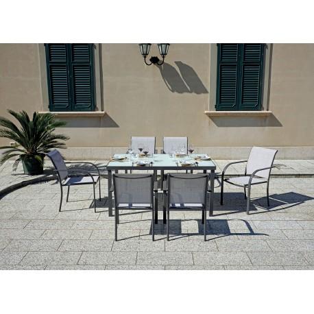 Tavolo Con Piano In Vetro.Tavolo Da Esterno Empoli Di Greenwood In Alluminio E Vetro Miglior