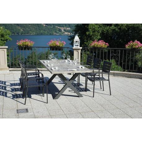 Tavolo Per Esterno Legno.Tavolo Per Esterni Fucecchio Di Greenwood Alluminio Piano Resin