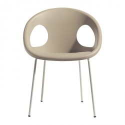 Sedia Drop telaio acciaio cromato e verniciato - Scab Design