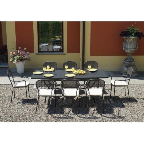Tavolo Da Giardino In Ferro Allungabile.Tavolo Da Esterno Ginevra Di Greewood Allungabile 150 200x90 In