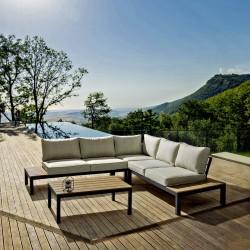 Salotto da giardino angolare in alluminio Elias by Bizzotto.