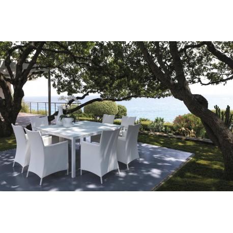 Tavolo Quadrato Da Esterno.Tavolo Da Esterno Quadrato Touch By Talenti Alluminio E Vetro Cm 155x155