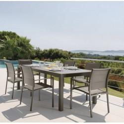 Tavolo da esterno allungabile Touch by Talenti. Alluminio e vetro. cm. 220 - 330
