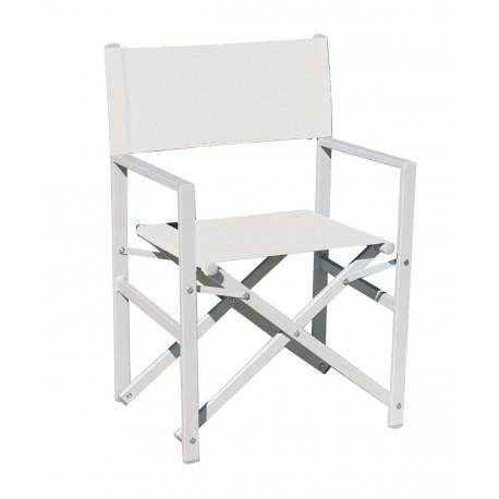 Sedie Pieghevoli Regista Alluminio.Sedia Regista Da Esterno Taylor Pieghevole Alluminio E Textilene By
