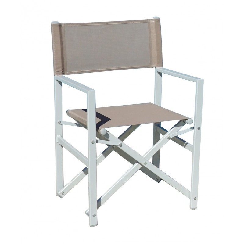 Sedia regista da esterno taylor pieghevole alluminio e for Sedia design regista