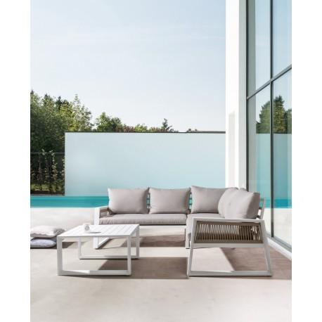 Salotto da giardino angolare in alluminio Captiva by Bizzotto.