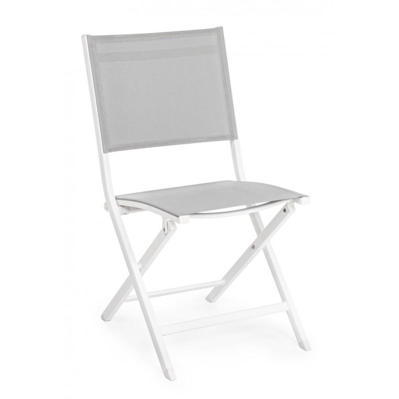 Sedie Da Giardino In Alluminio Pieghevoli.Sedia Da Esterno Pieghevole Elin By Bizzotto In Alluminio 3
