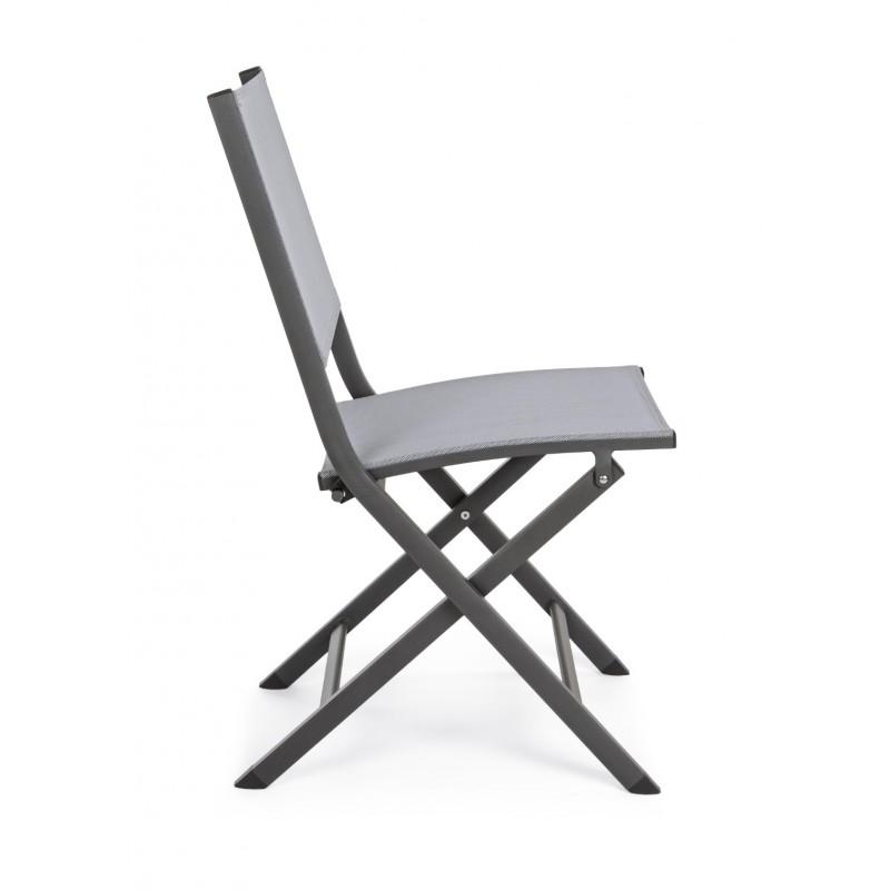 Sedie Pieghevoli Da Cucina.Sedia Da Esterno Pieghevole Elin By Bizzotto In Alluminio 3 Colori