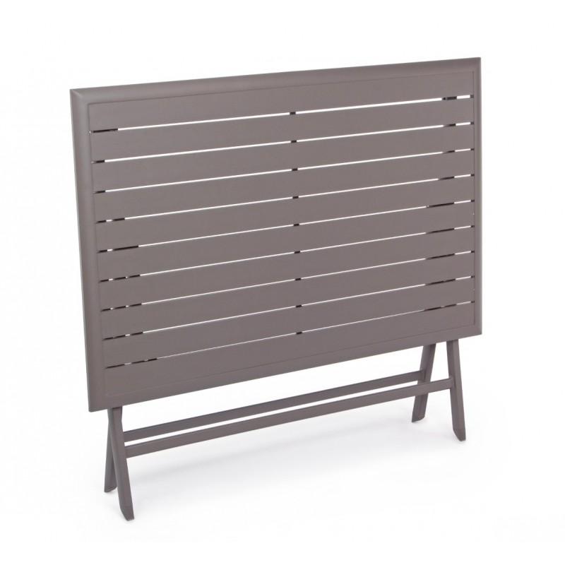 Tavoli Da Giardino In Alluminio Pieghevoli.Tavolo Pieghevole In Alluminio Elin By Bizzotto