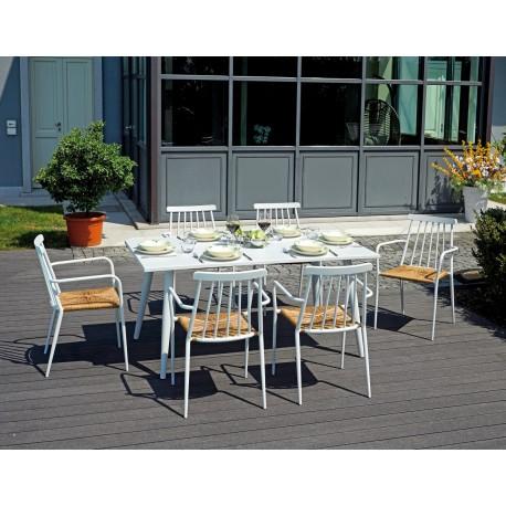 Tavolo Bianco Da Esterno.Tavolo Da Esterno Andora160x90 Alluminio Bianco