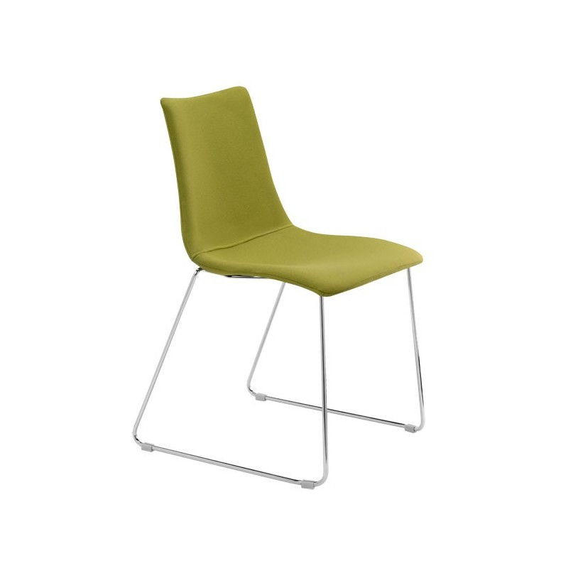 Sedie A Slitta Moderne.2 Sedie Scab Zebra Pop Struttura A Slitta Scab Design Miglior Prezzo